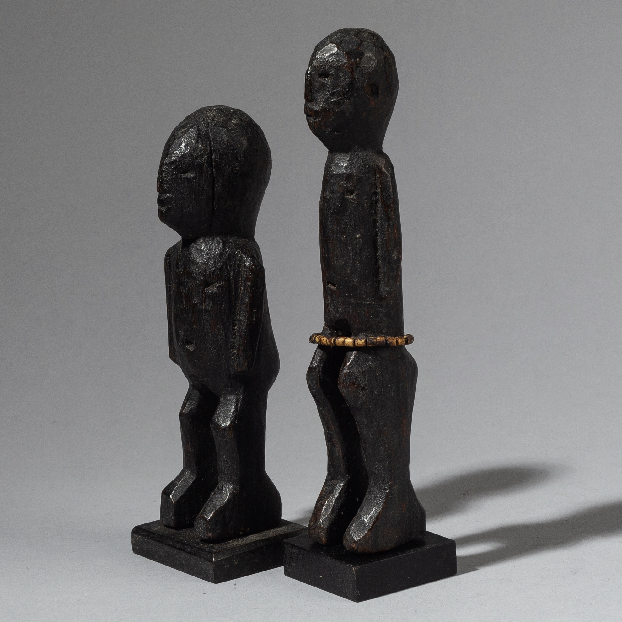 A PAIR OF ELEMENTAL ALTAR FIGURES FROM NORTHERN TOGO ( No 2802 )