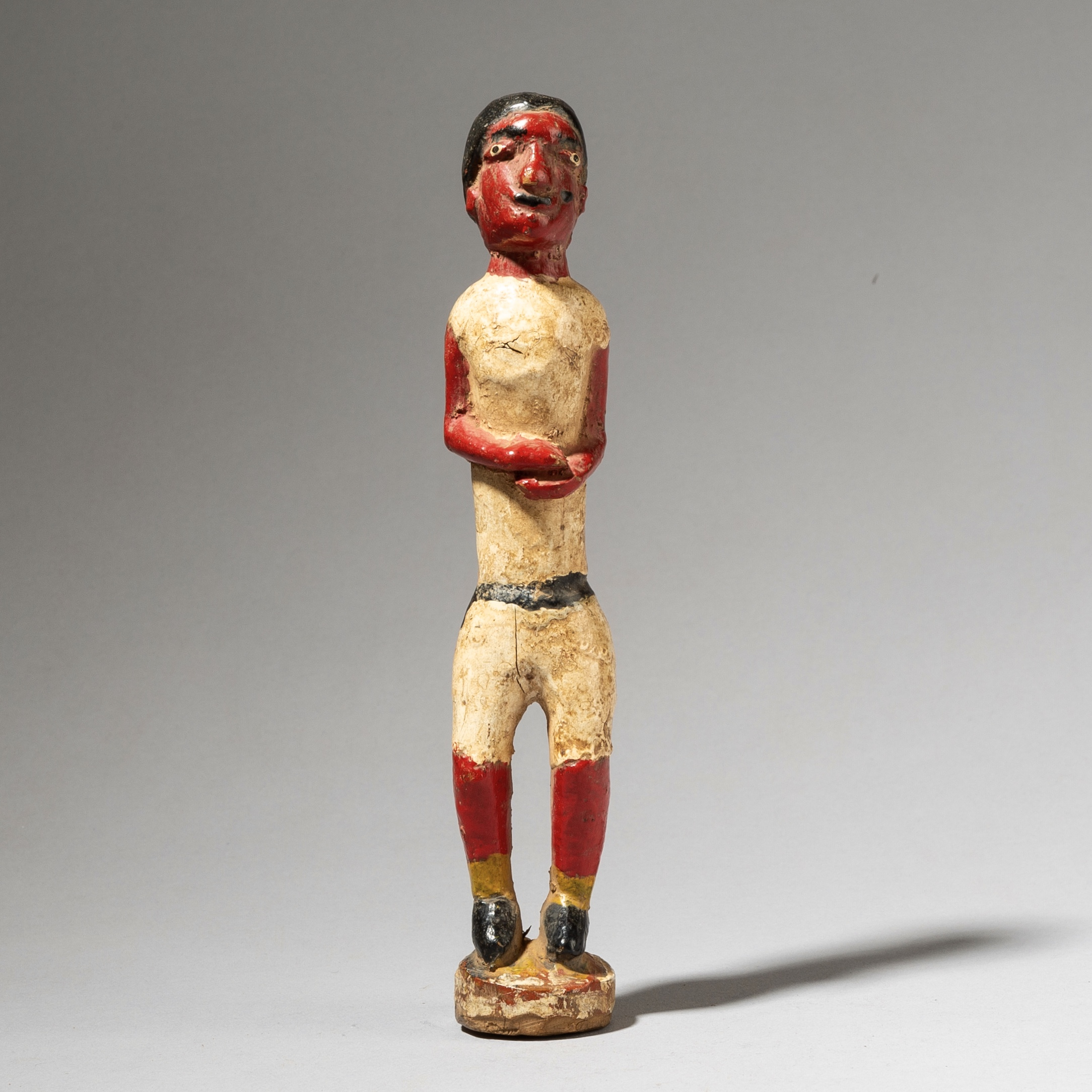 A BAULE COLON FIGURE FROM THE IVORY COAST W AFRICA ( No 4038 )