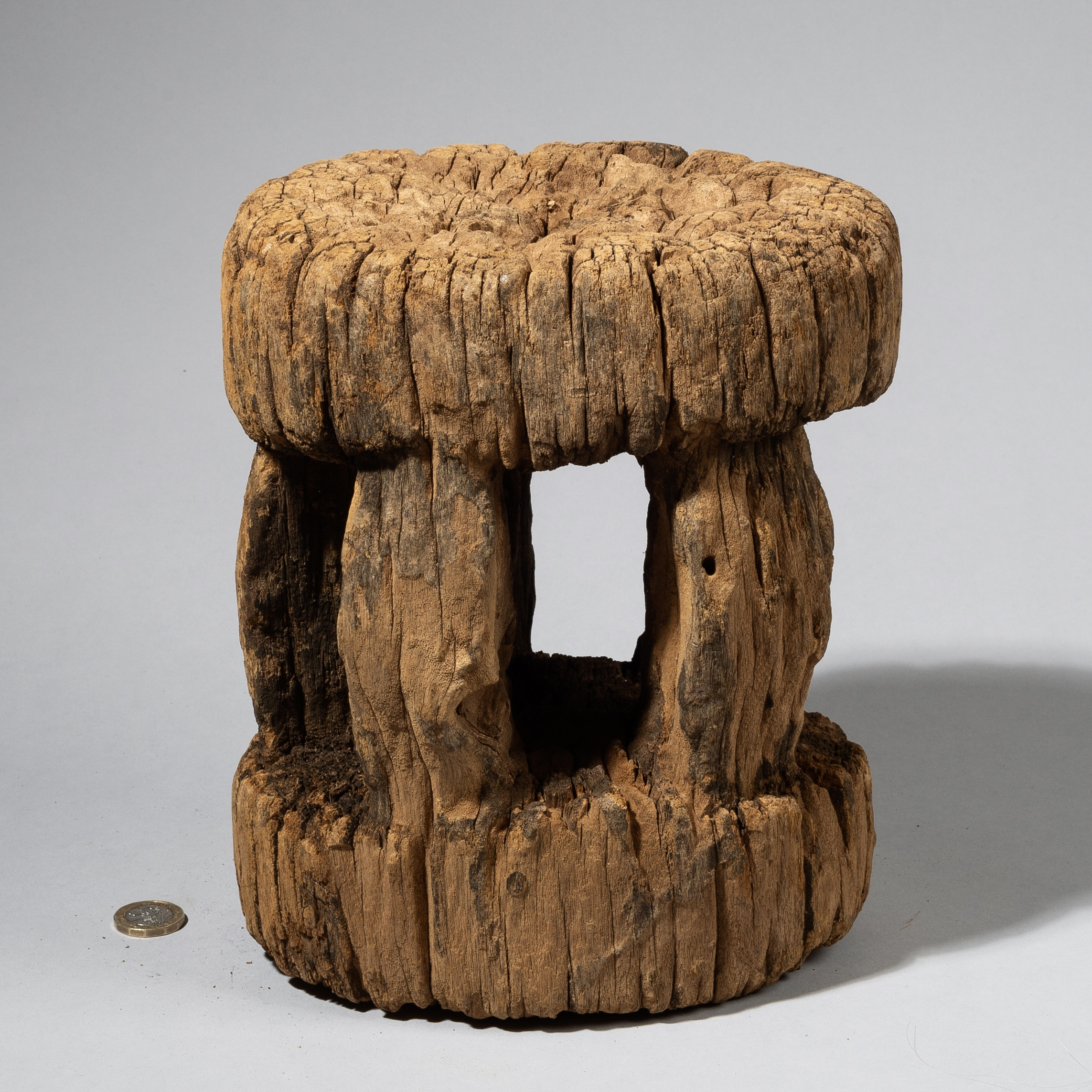 AN ANCIENT DOGON STOOL FROM MALI, W. AFRICA ( No 4460)