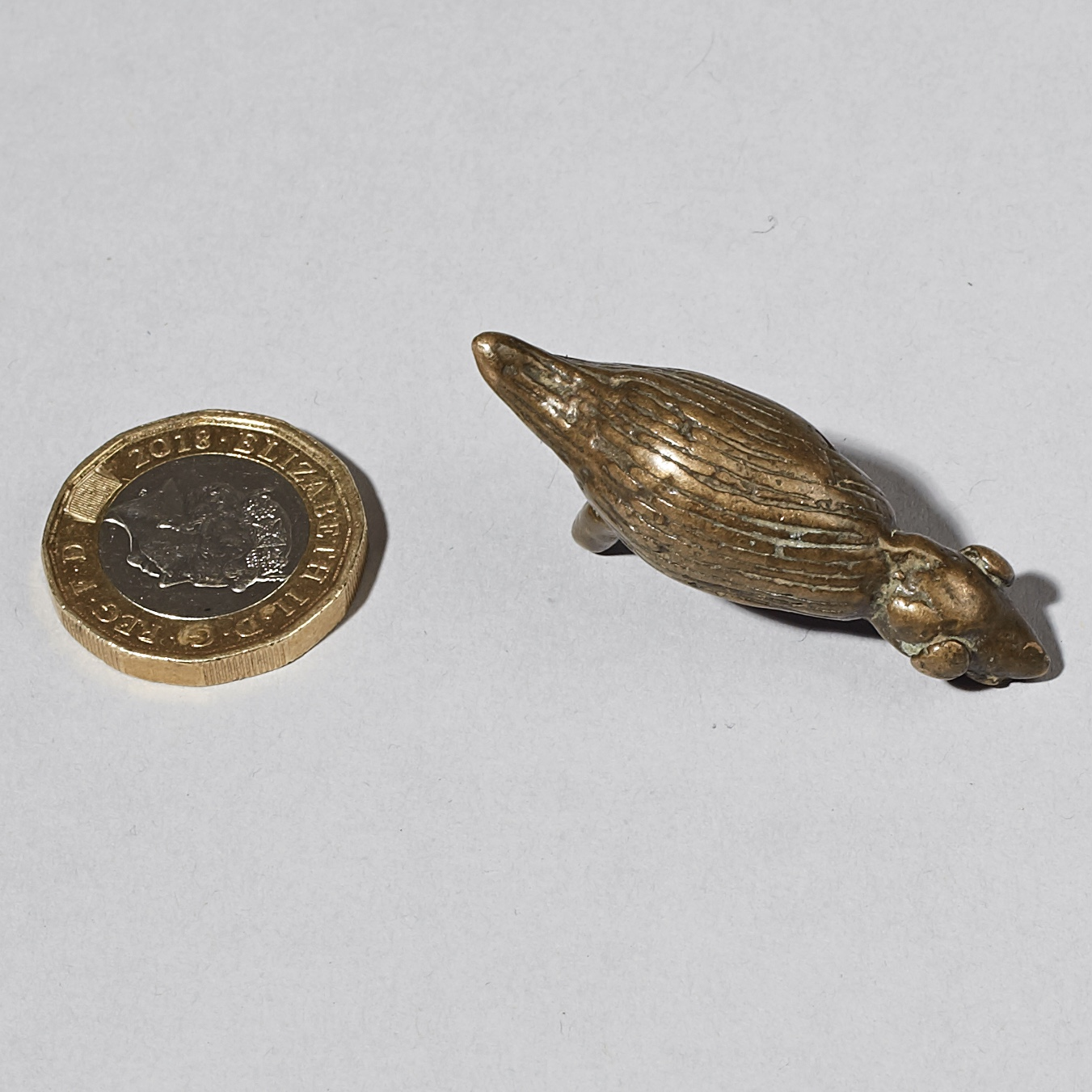 AN UNUSUAL ANIMAL 19THC GOLD WEIGHT FROM THE AKAN REGION W AFRICA( No 2983 )