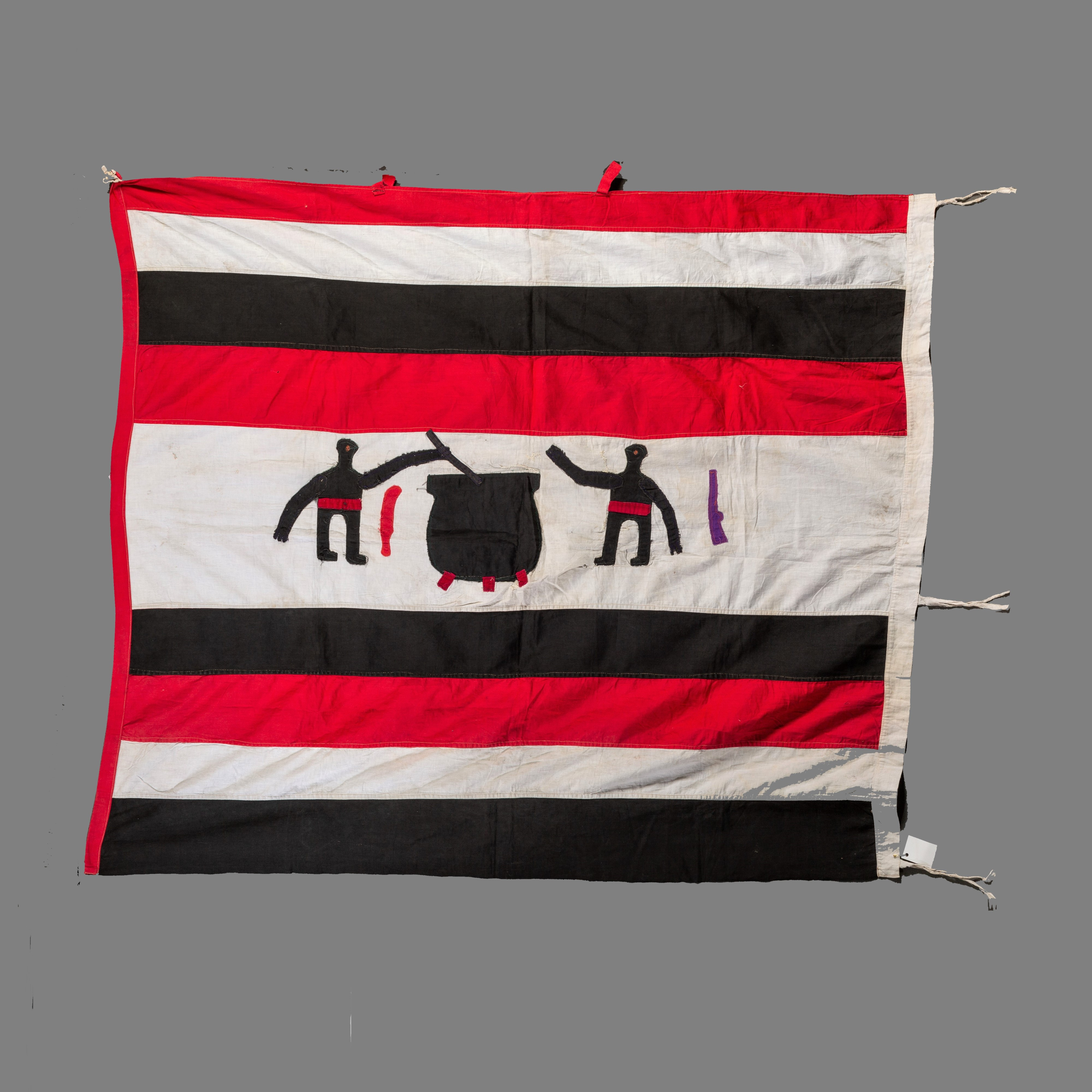 A STRIKING MONOCHROMATIC FANTE FLAG FROM GHANA ( No 309 )