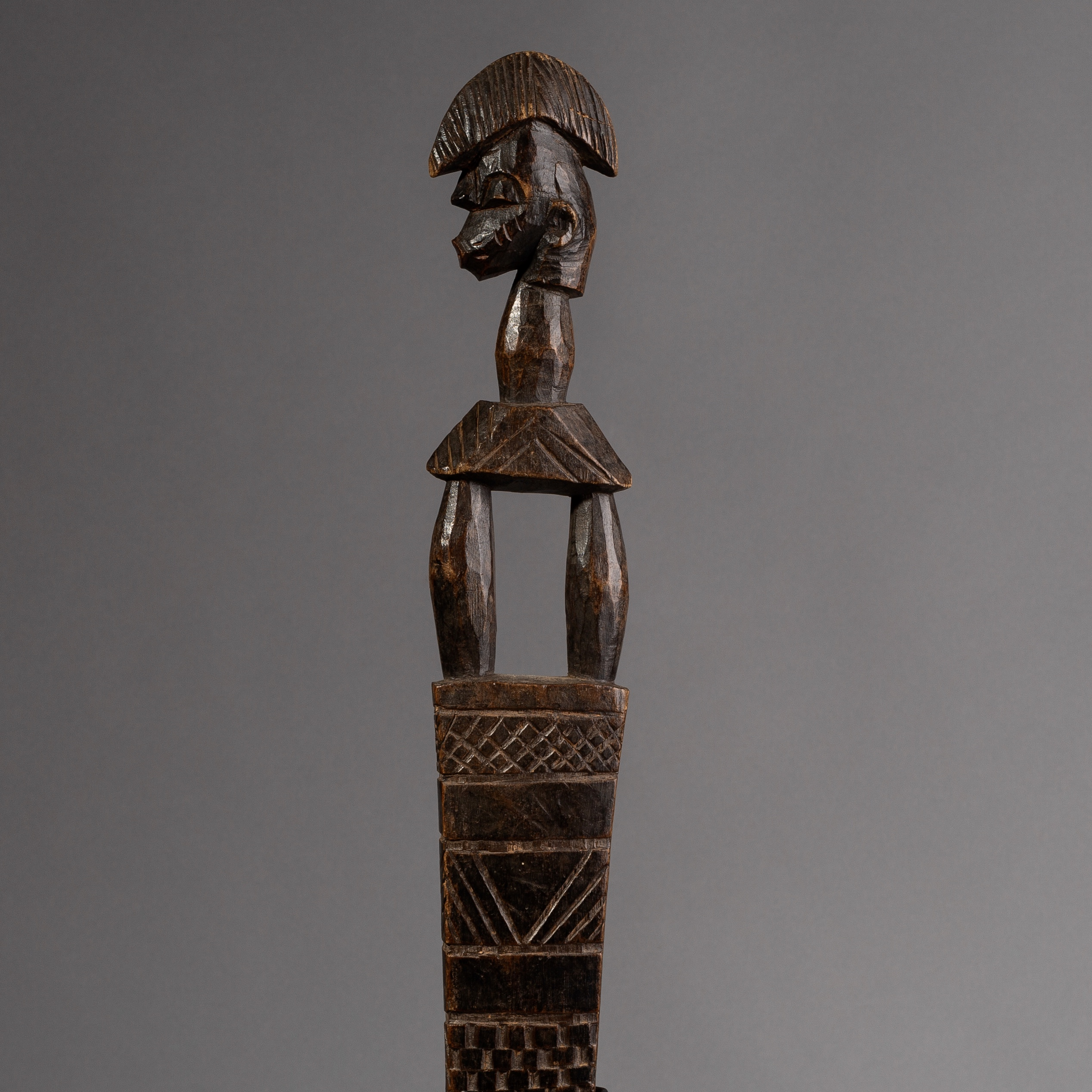 SD A SWEET FIGURATIVE STAFF FROM  THE SENUFO TRIBE  OF IVORY COAST  ( No 1364 )