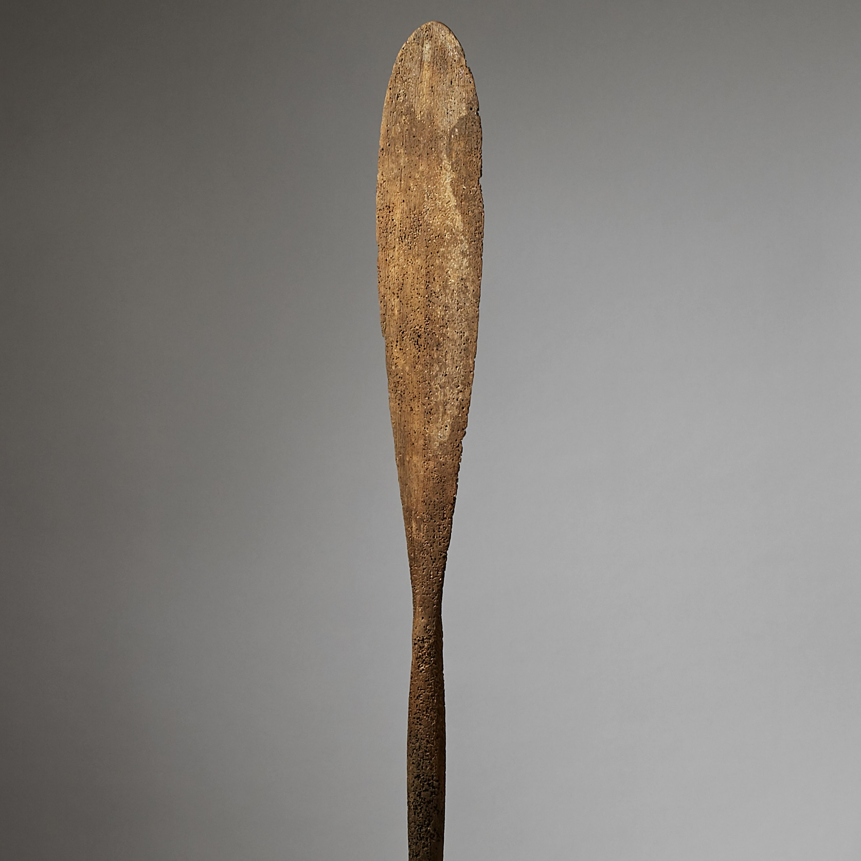 A WEATHERED ALMOST CORAL LIKE PADDLE FROM SULAWESI,  INDONESIA ( No 2906 )