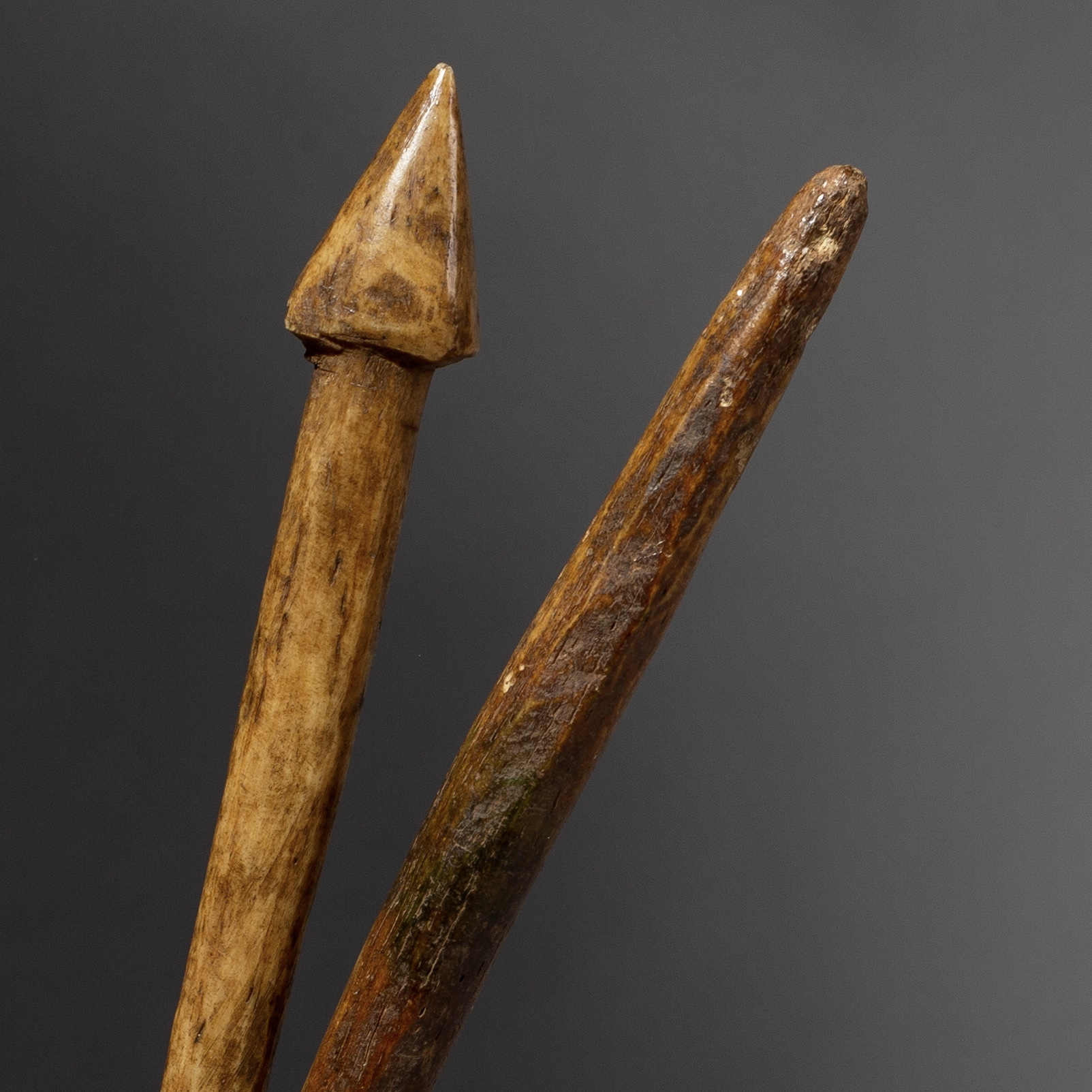 2 BONE LEGA DIVINATION INSTRUMENTS FROM THE CONGO ( No 2137 )