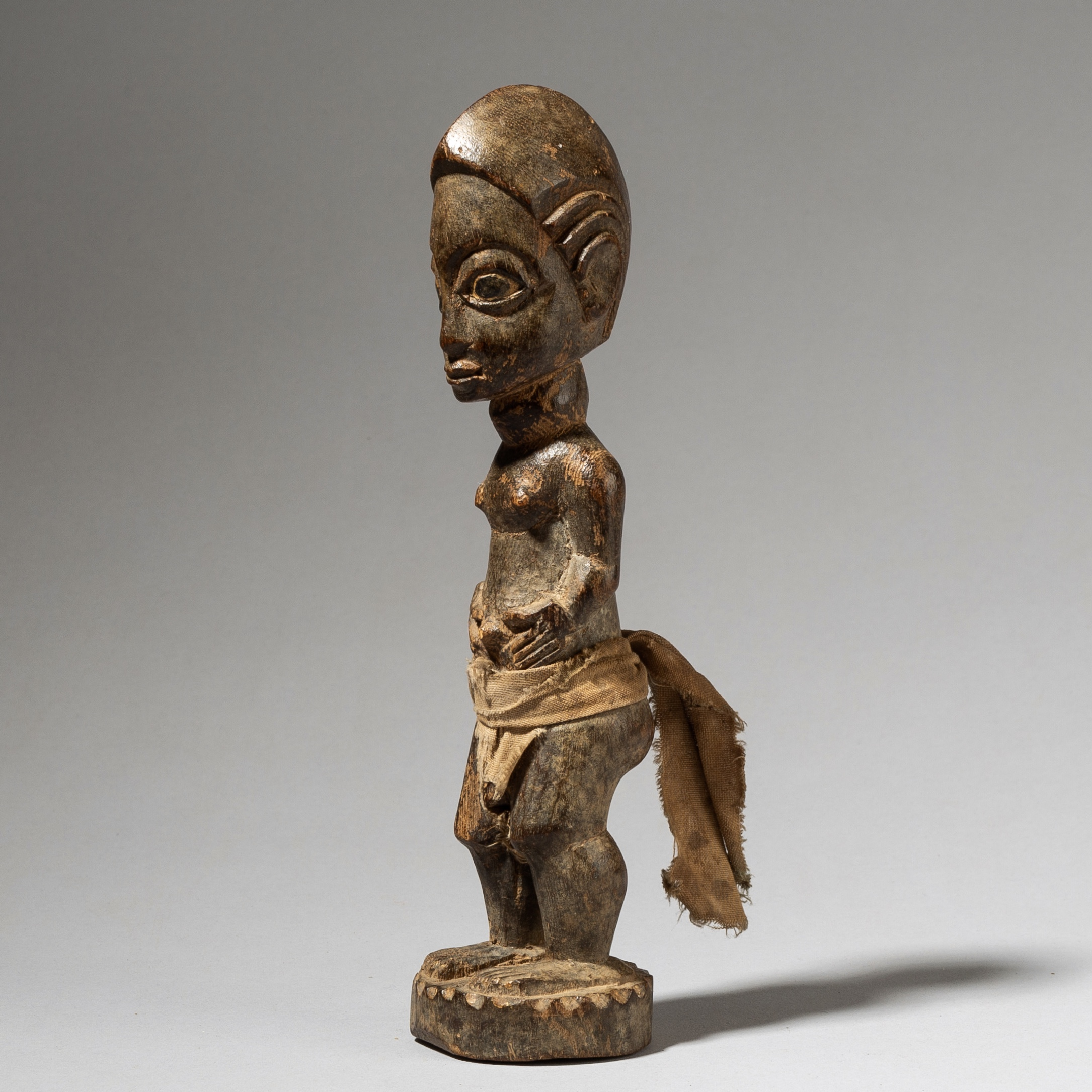 A HANDSOME OTHER WORLD PARTNER, BAULE TRIBE IVORY COAST W AFRICA ( No 4045)
