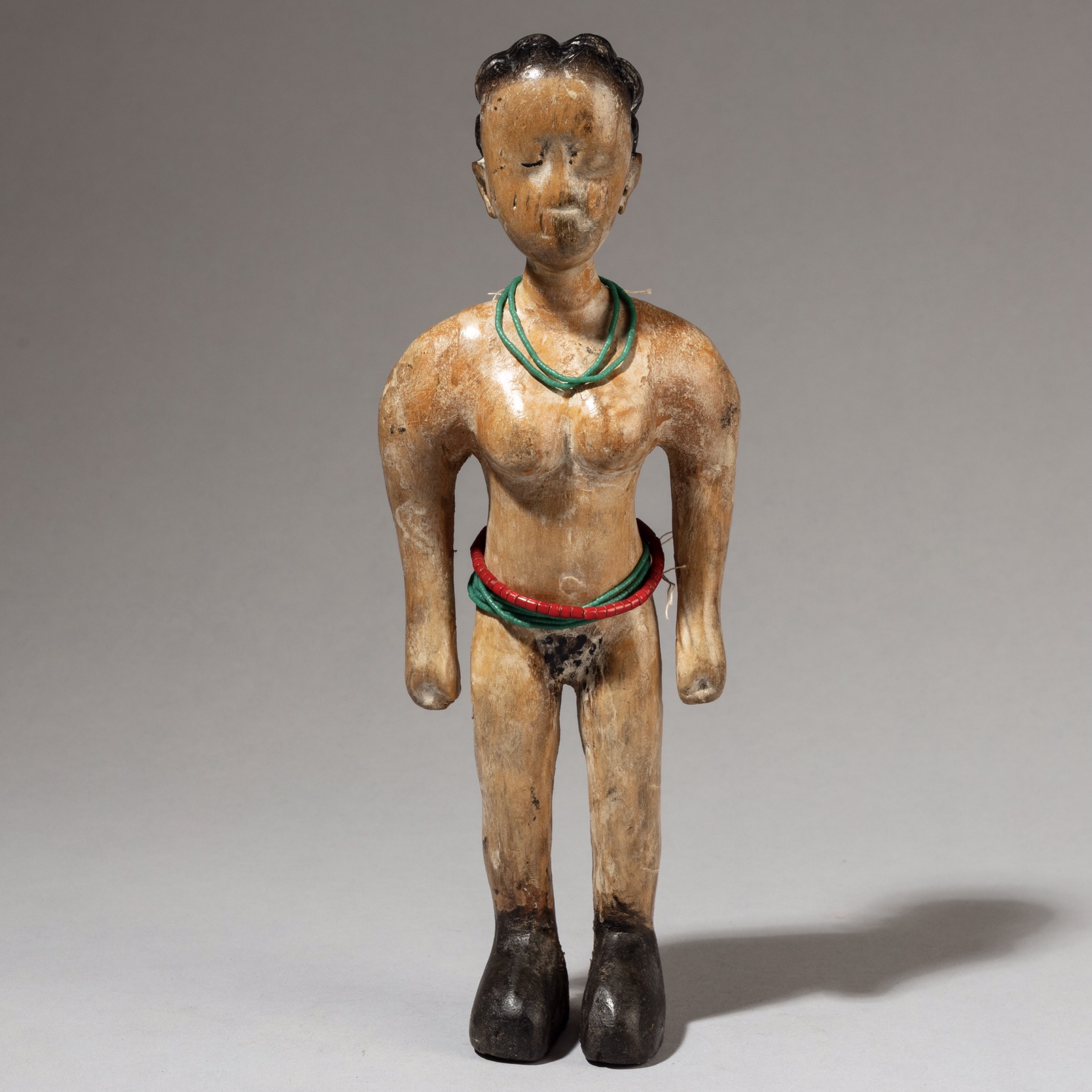 A SVELT VENAVI TWIN DOLL, EWE TRIBE OF GHANA  ( No 3347 )