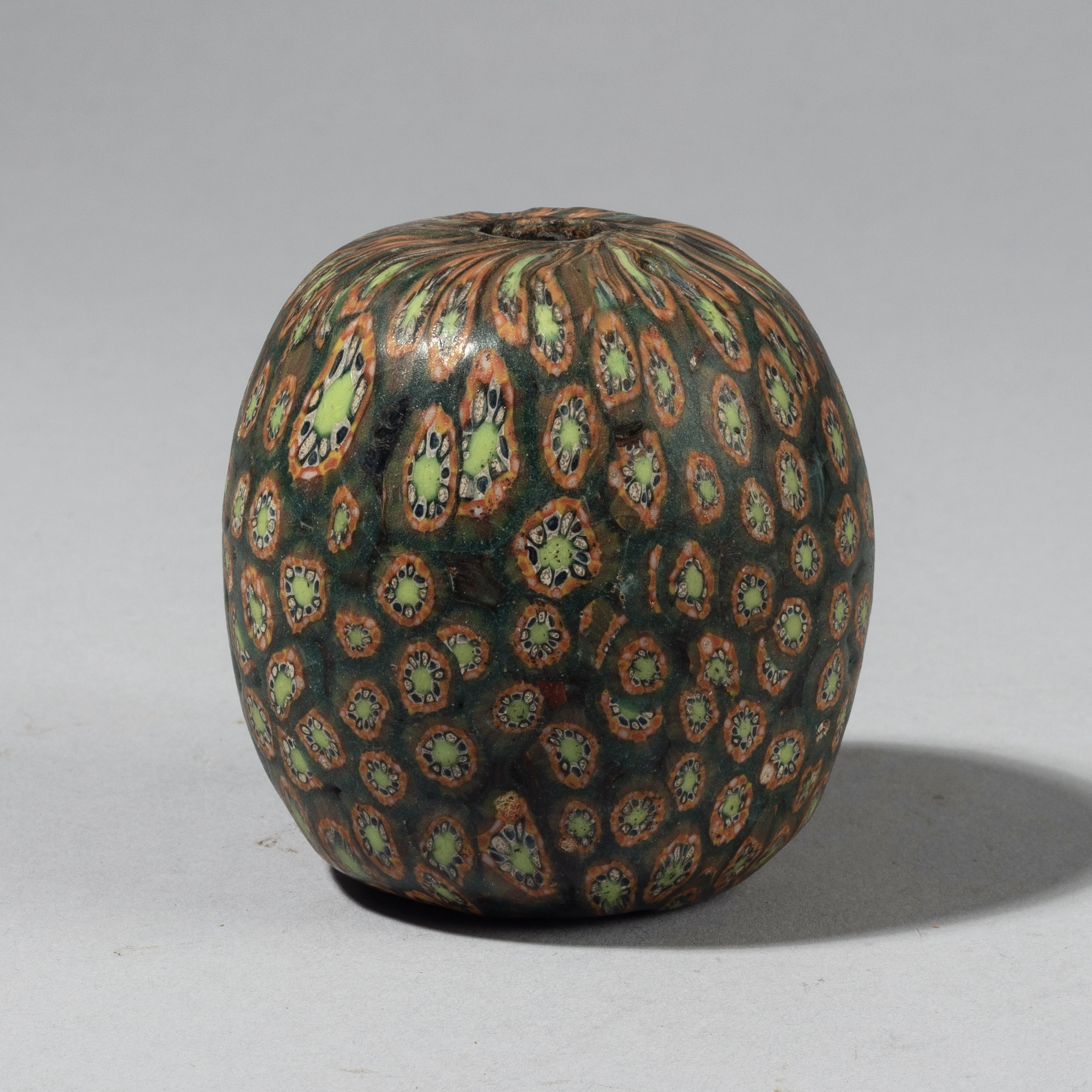 sold pop up-A LARGE SIZED GORGEOUS GREEN BEAD FROM JAVA INDONESIA ( No 4371)