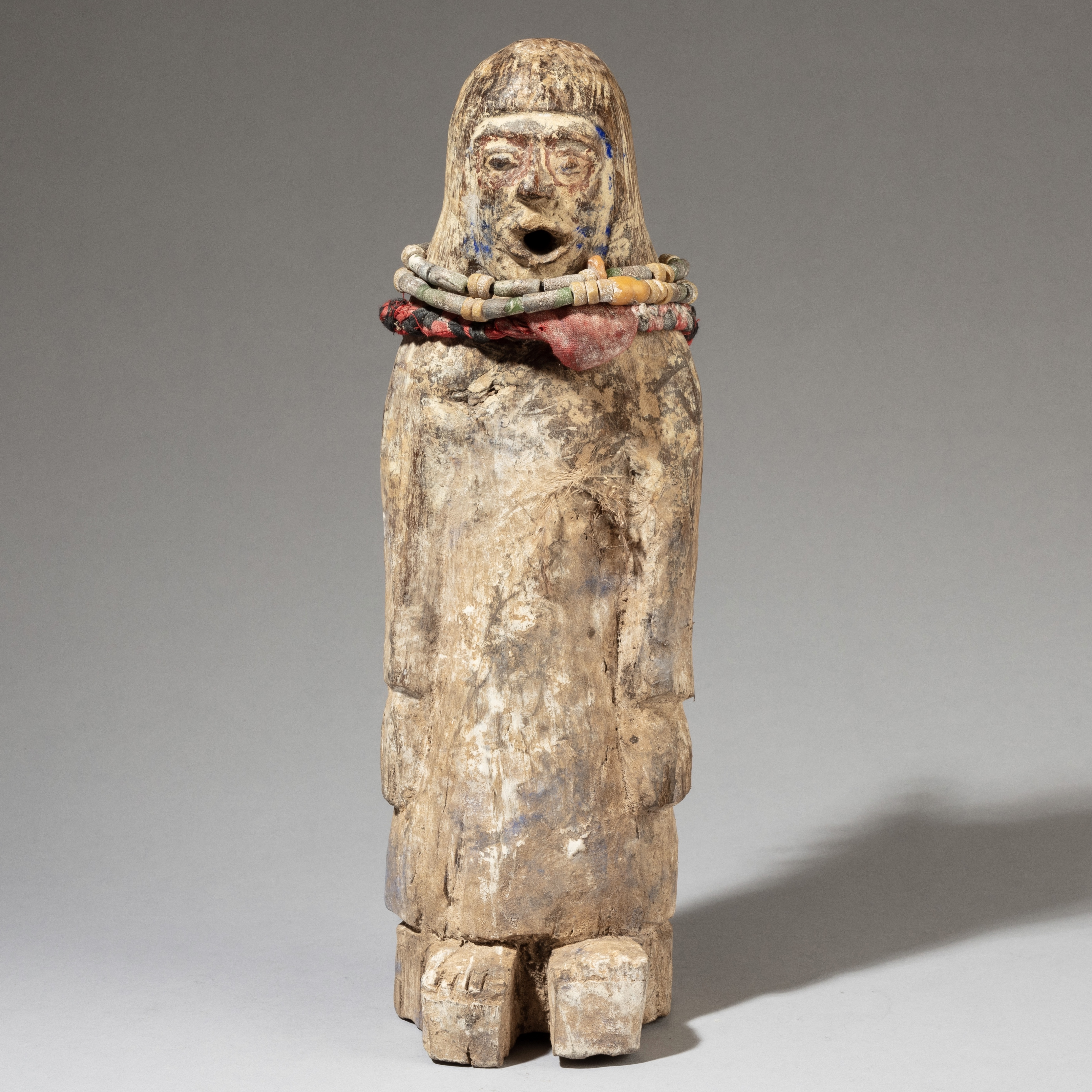 AN OTHERWORLDLY POWER FIGURE WITH MEDICINE RECEPTICLE ( No 3479 )