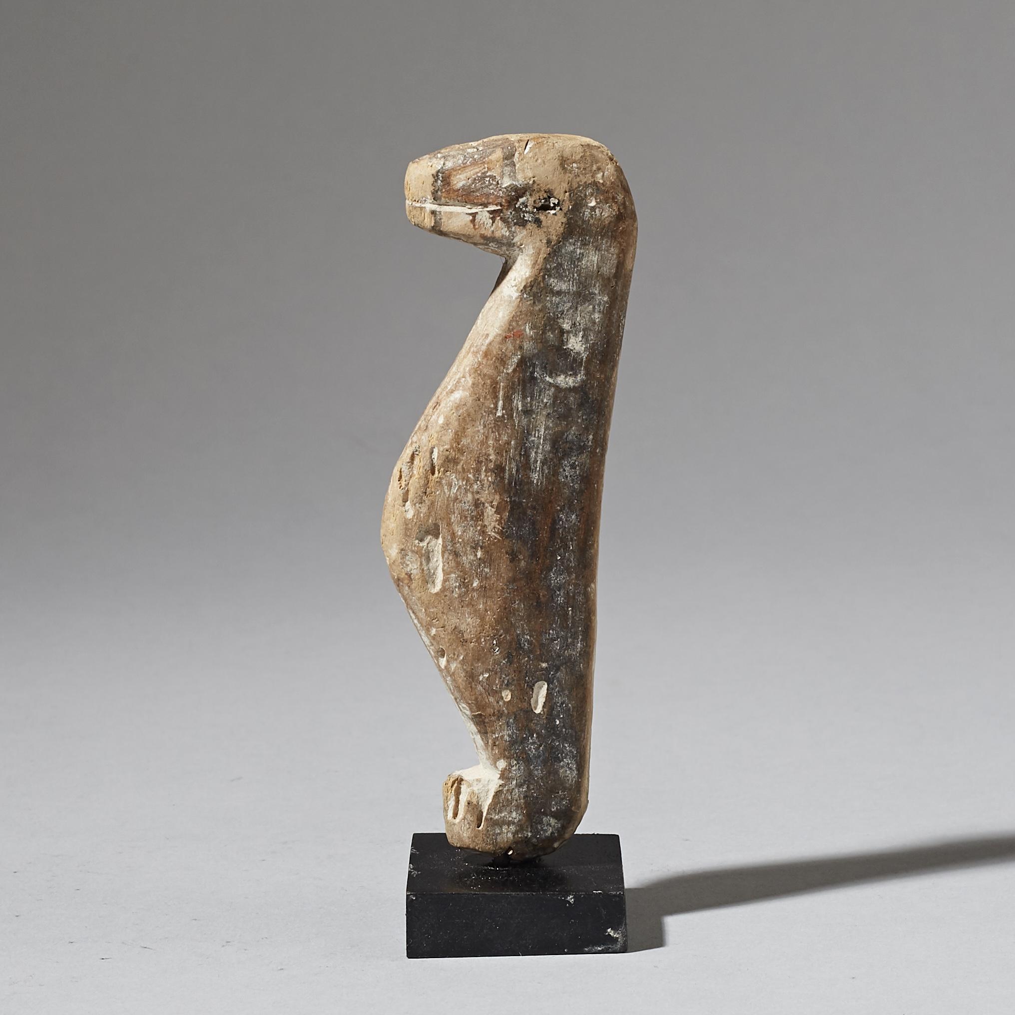 A CUTE BIRD NATURE SPIRIT FROM ADAN TRIBE OF GHANA ( No 2894 )