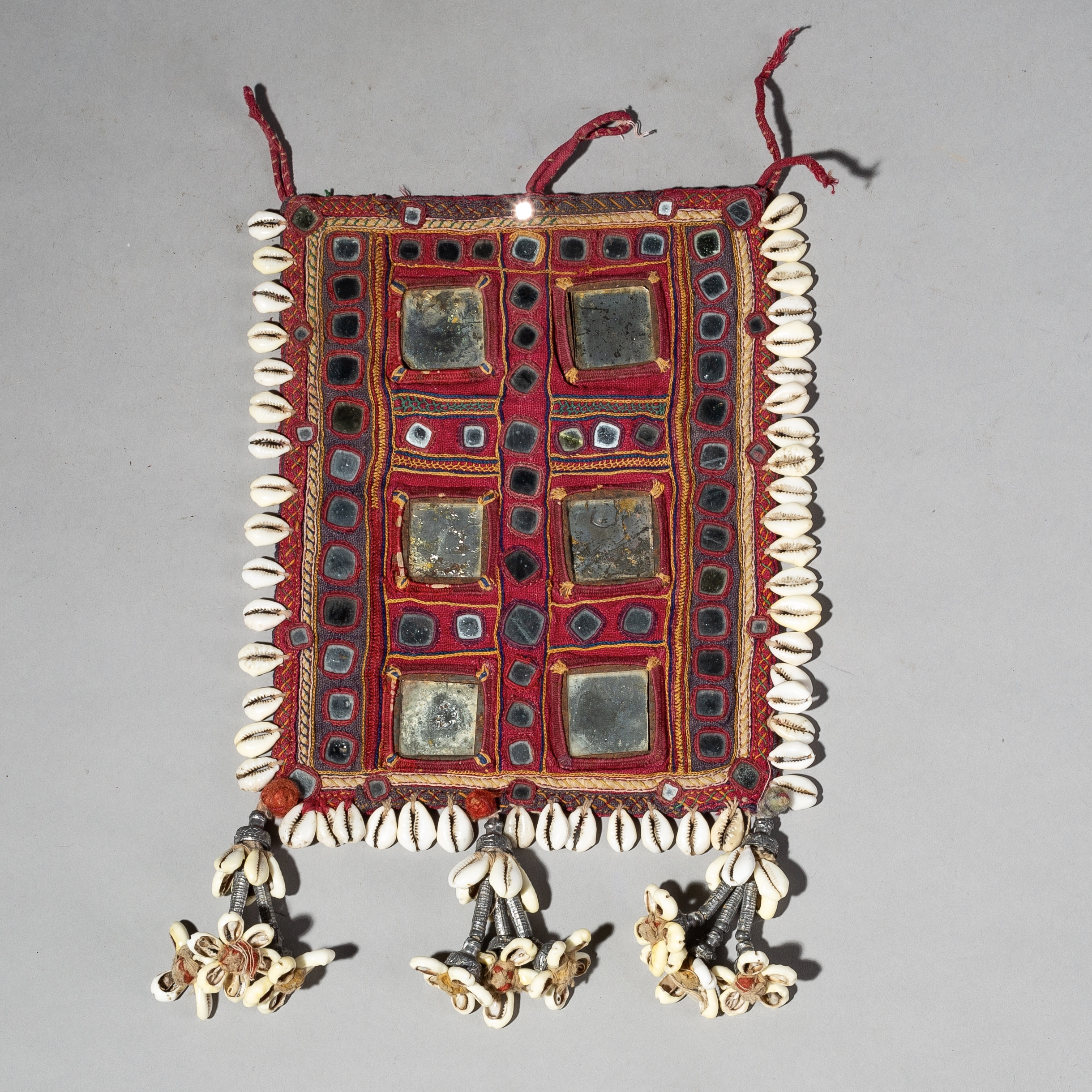 A DECORATIVE INDIAN EMBROIDERED TEXTILE PANEL ( No 2222 )