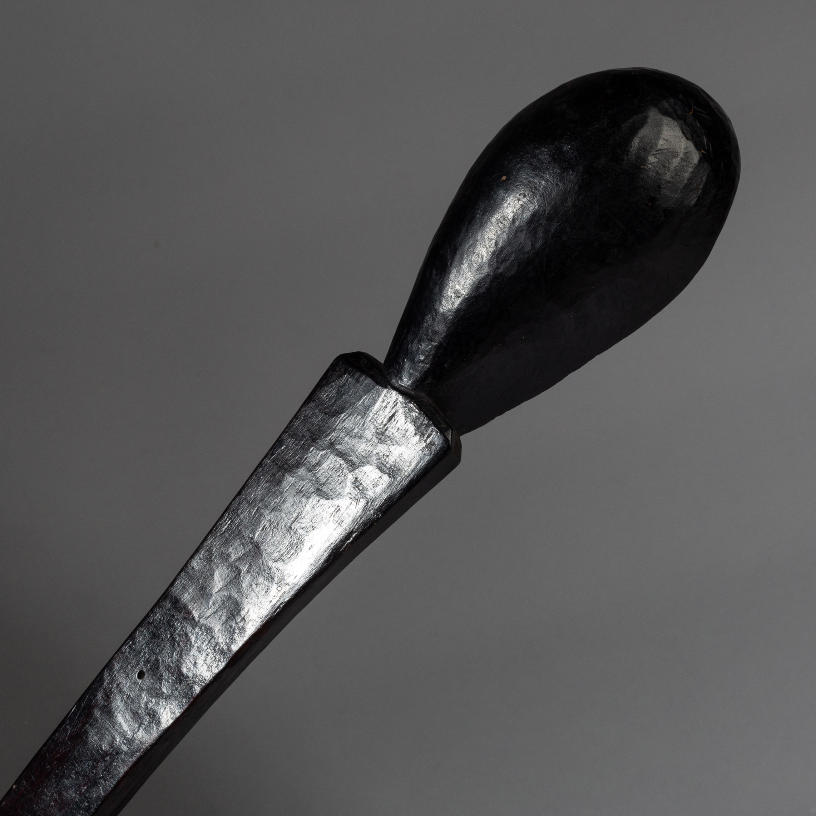 A JET BLACK SOPHISTICATED SPOON, BORANA TRIBE ETHIOPIA ( No 3260 )