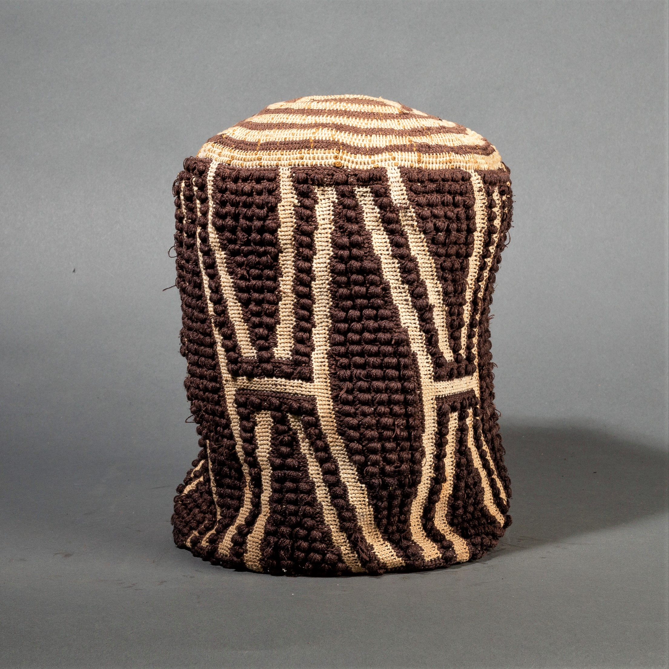 A GRAPHIC BAMILEKE HAT, CUSTOM STAND INCLUDED ( No 338 )