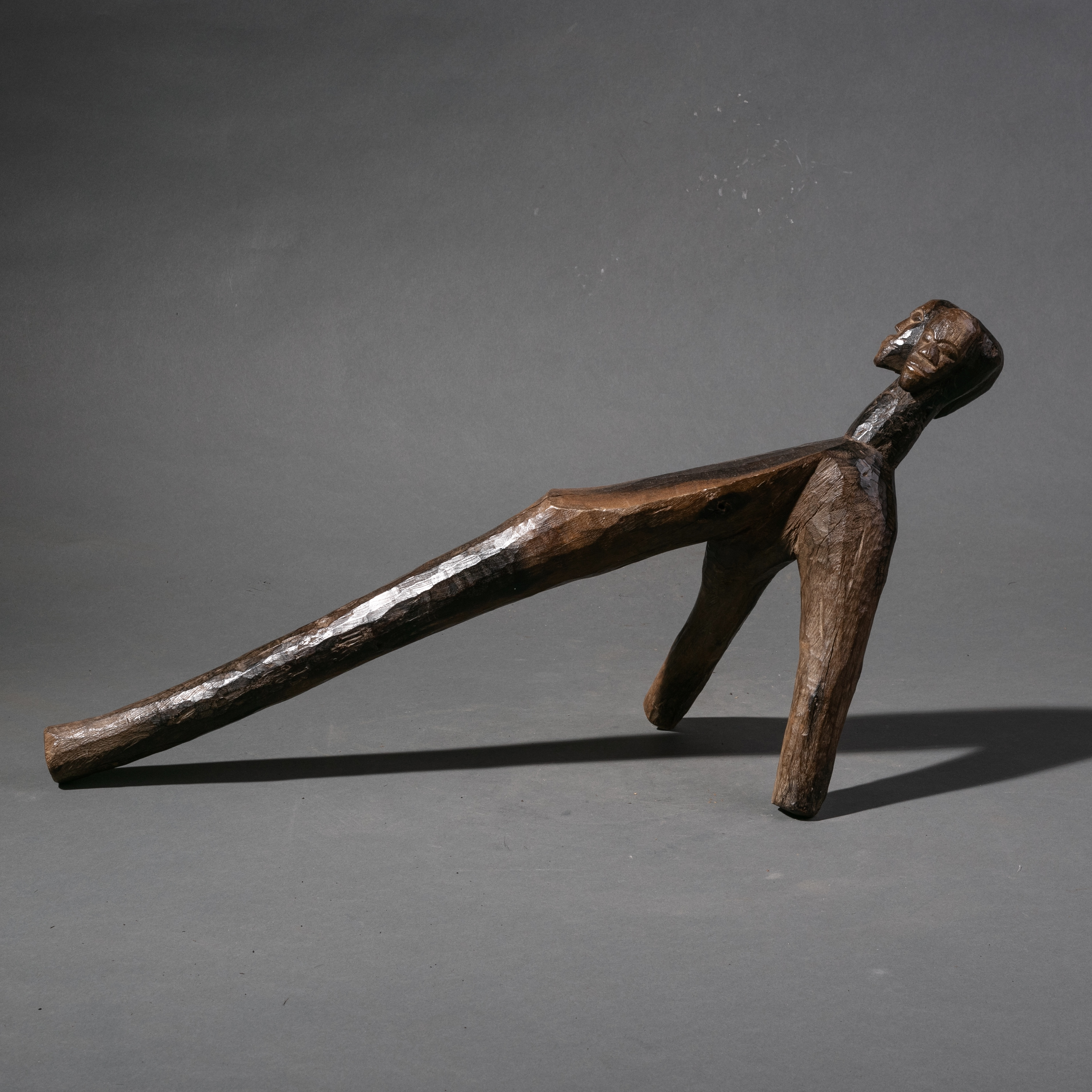 AN EXCELLENT LOBI FIGURATIVE STOOL FROM BURKINA FASO ( No 1151 )