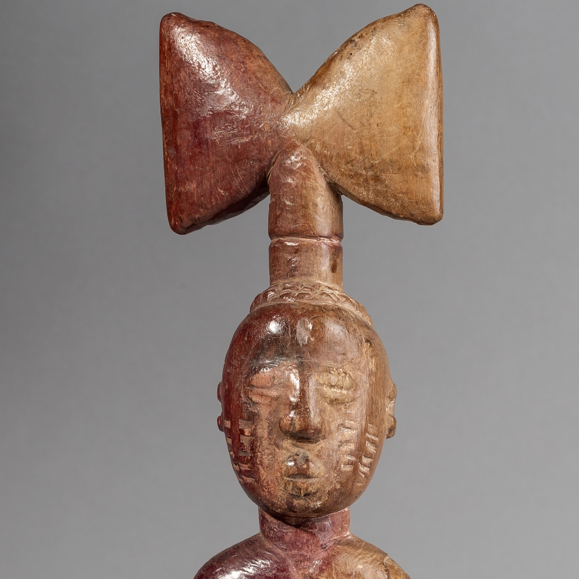 SD A GRAPHIC SHANGO DANCE WAND, YORUBA TRIBE OF NIGERIA ( No 1454 )