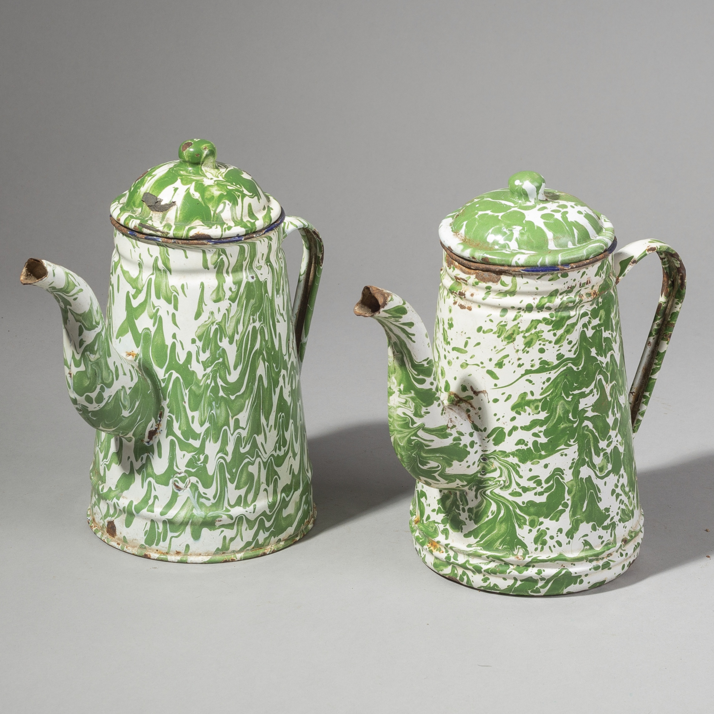 A PAIR OF TALL OLD TEAPOTS FROM BALI ( No 1763 )