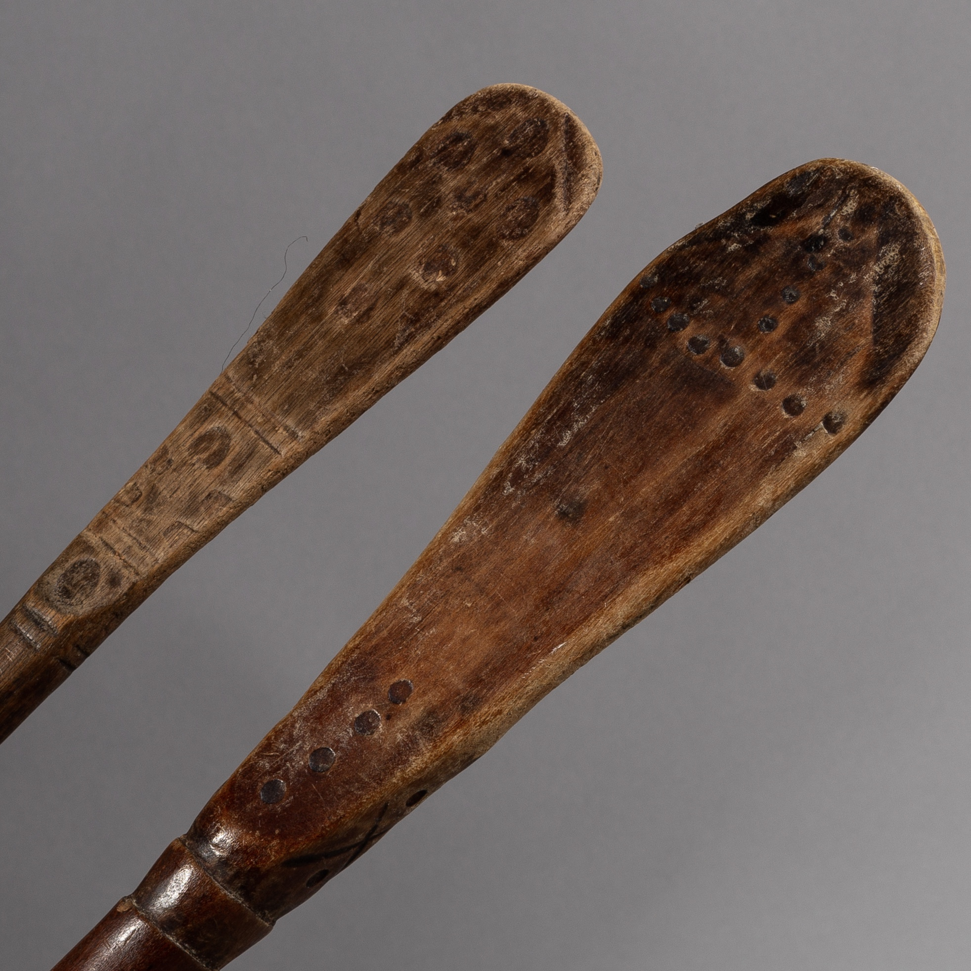 2 SPOONS FROM THE LOVALE TRIBE  OF ZAMBIA  ( No 1731 )