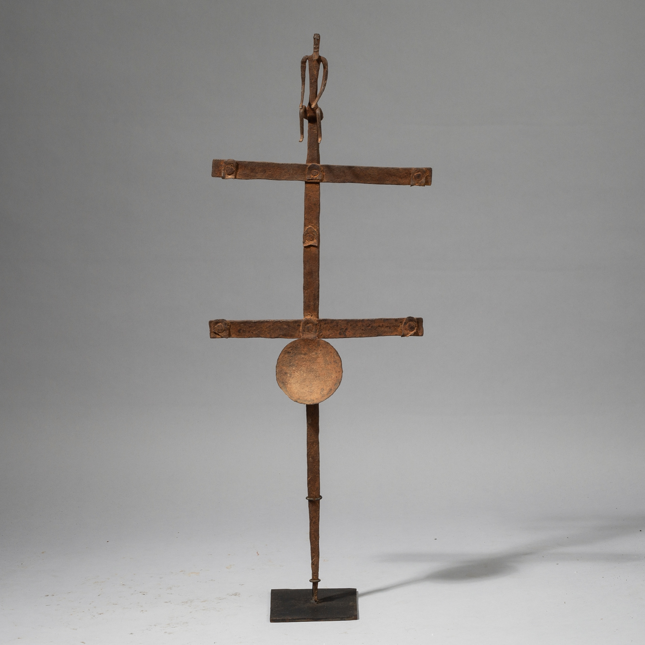 SOLD --A BAMBARA / BAMANA IRON OIL LAMP FROM MALI W.AFRICA( No 4500)