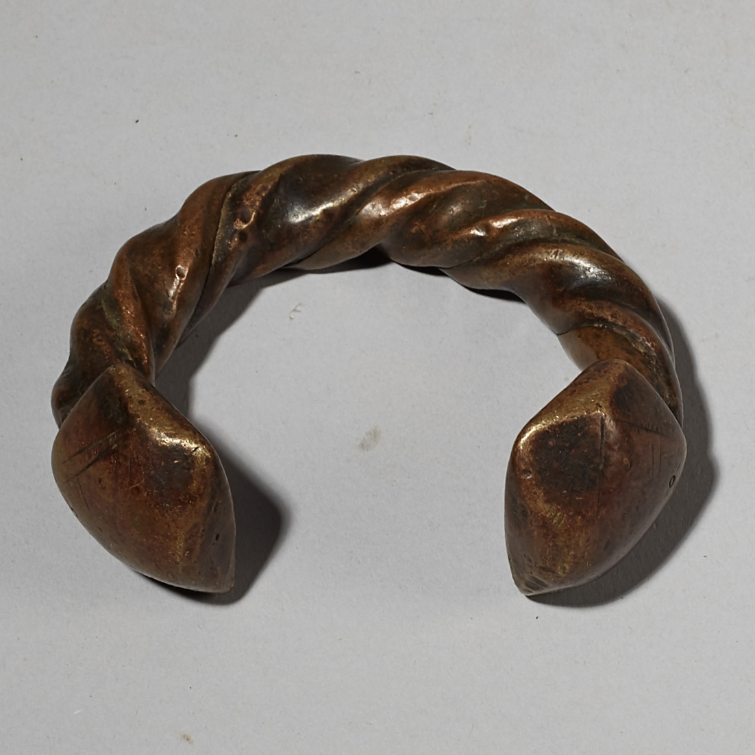 A LARGE HEAVY FULANI CURRENCY ANKLET FROM MALI W AFRICA ( No 4098)