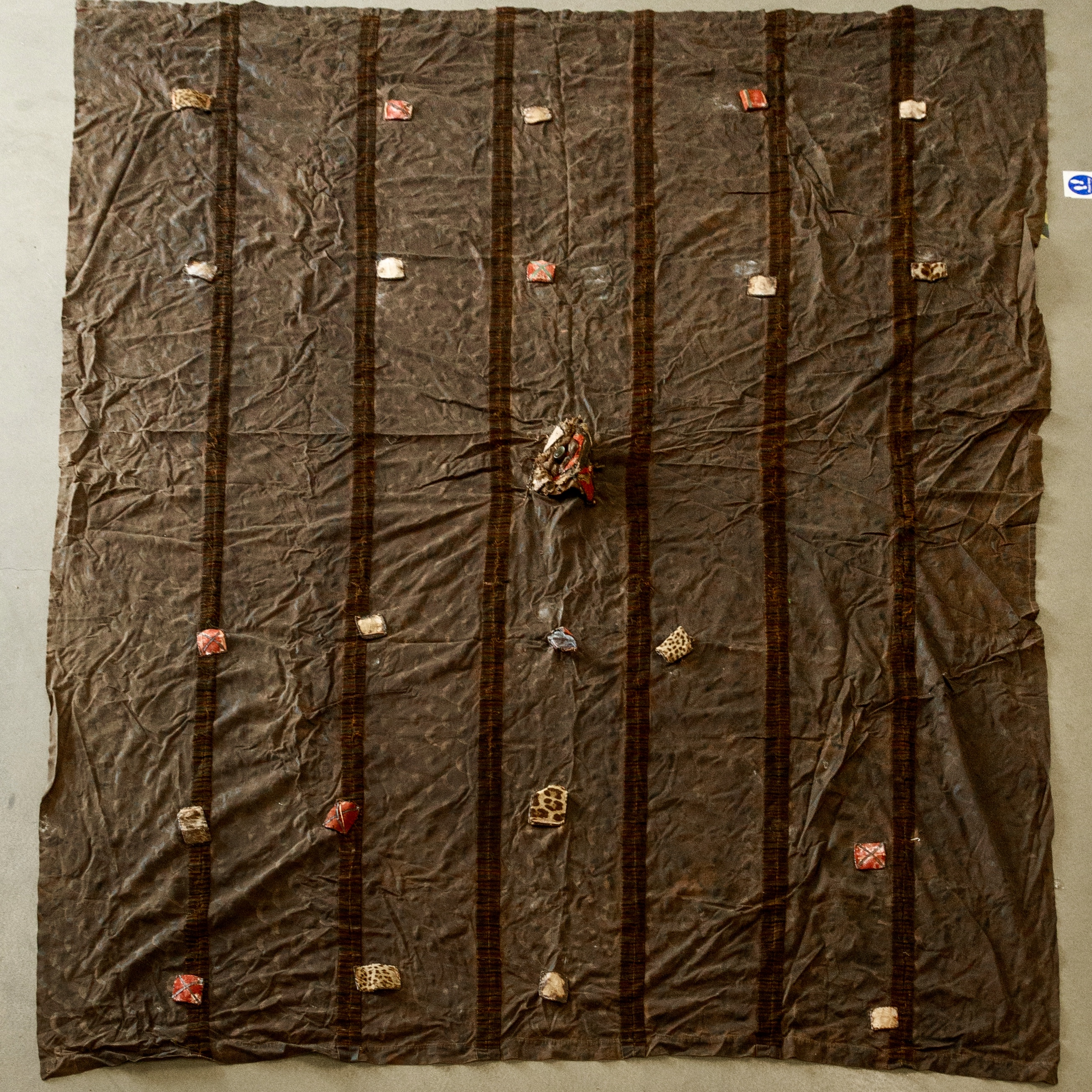 A VERY LARGE MENS EWE TRIBE CLOTH WITH TALISMANS  ( No 1928 )