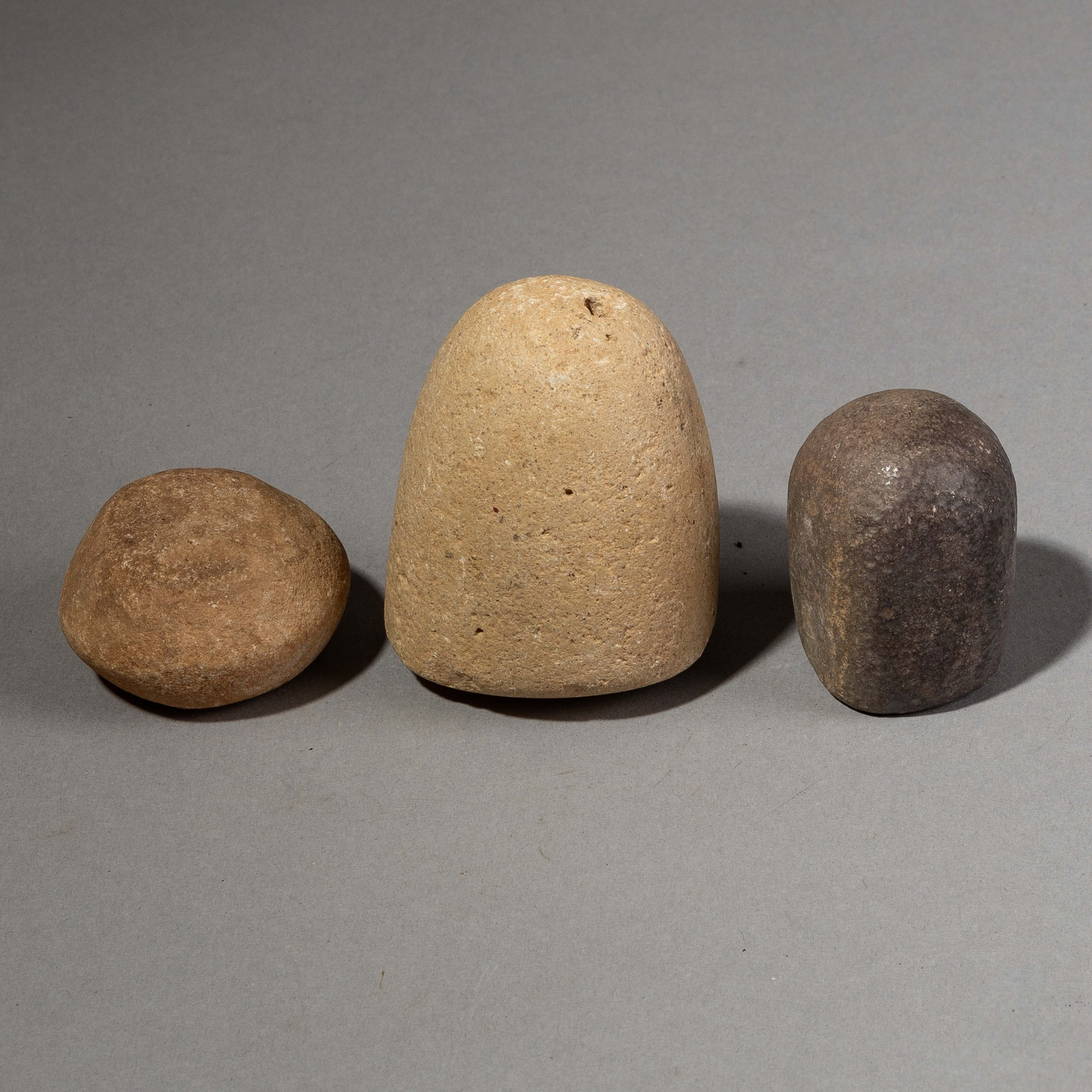3 OLD GRINDING STONES FROM THE SAHARA ( No 1874 )