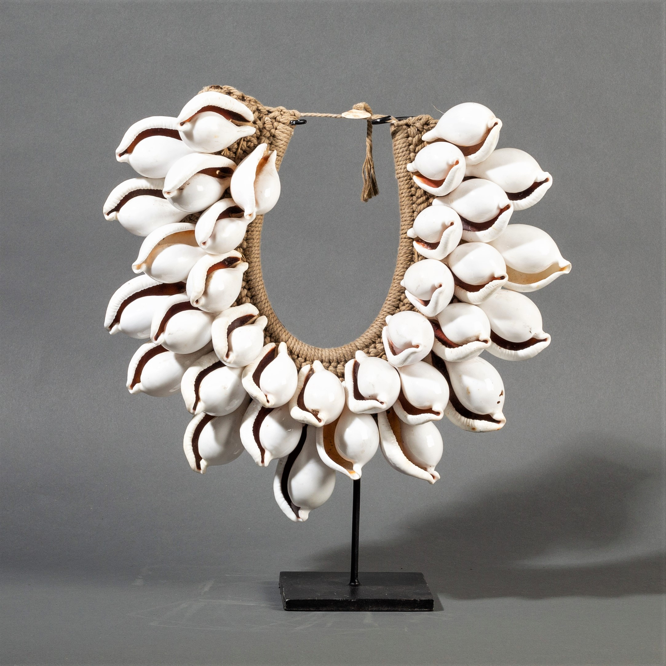 A LARGE EGG COWRIE SHELL COLLAR ( No 300)