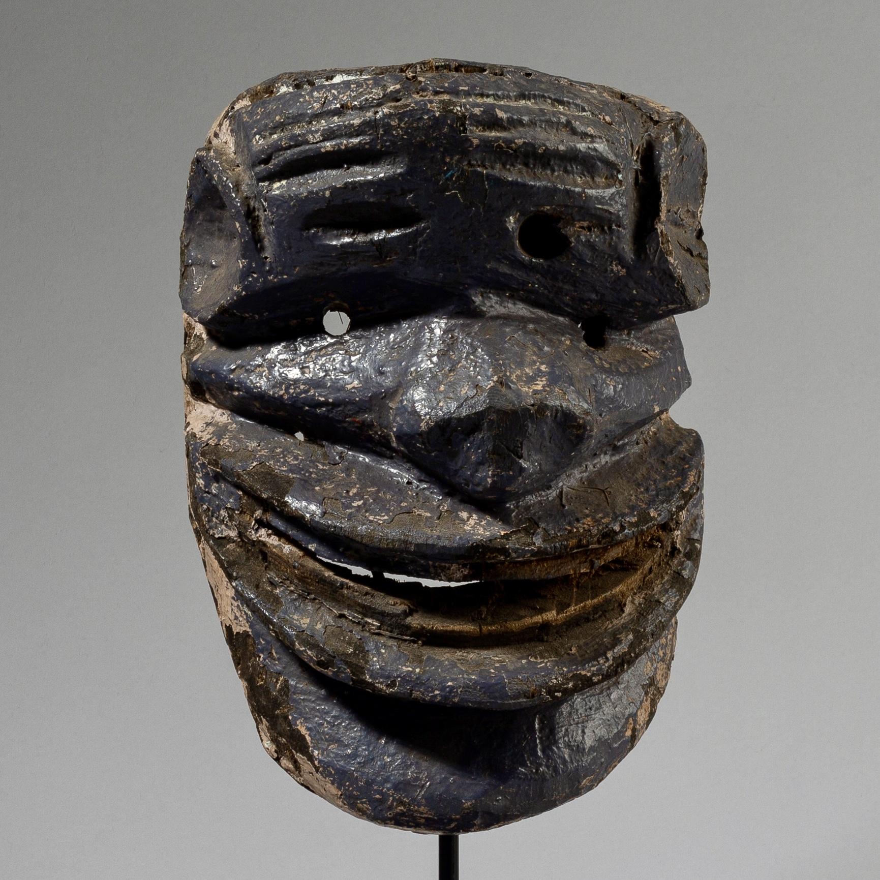 A SCULPTURAL WILDERNESS SPIRIT MASK, CHEWA TRIBE MALAWI ( No 3726 )