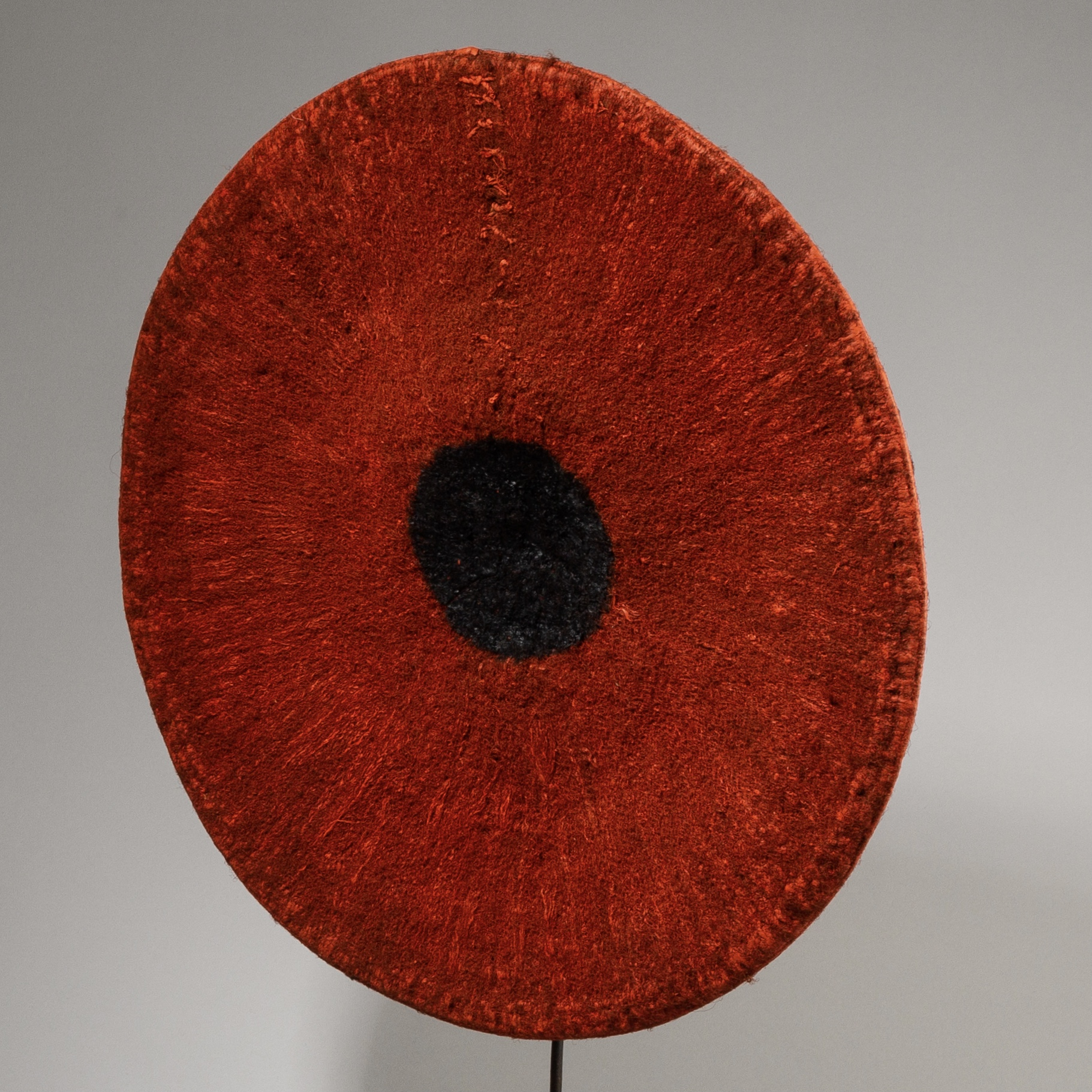 A DELICIOUS RED ZULU HAT, SOUTH AFRICA ( No 3848)