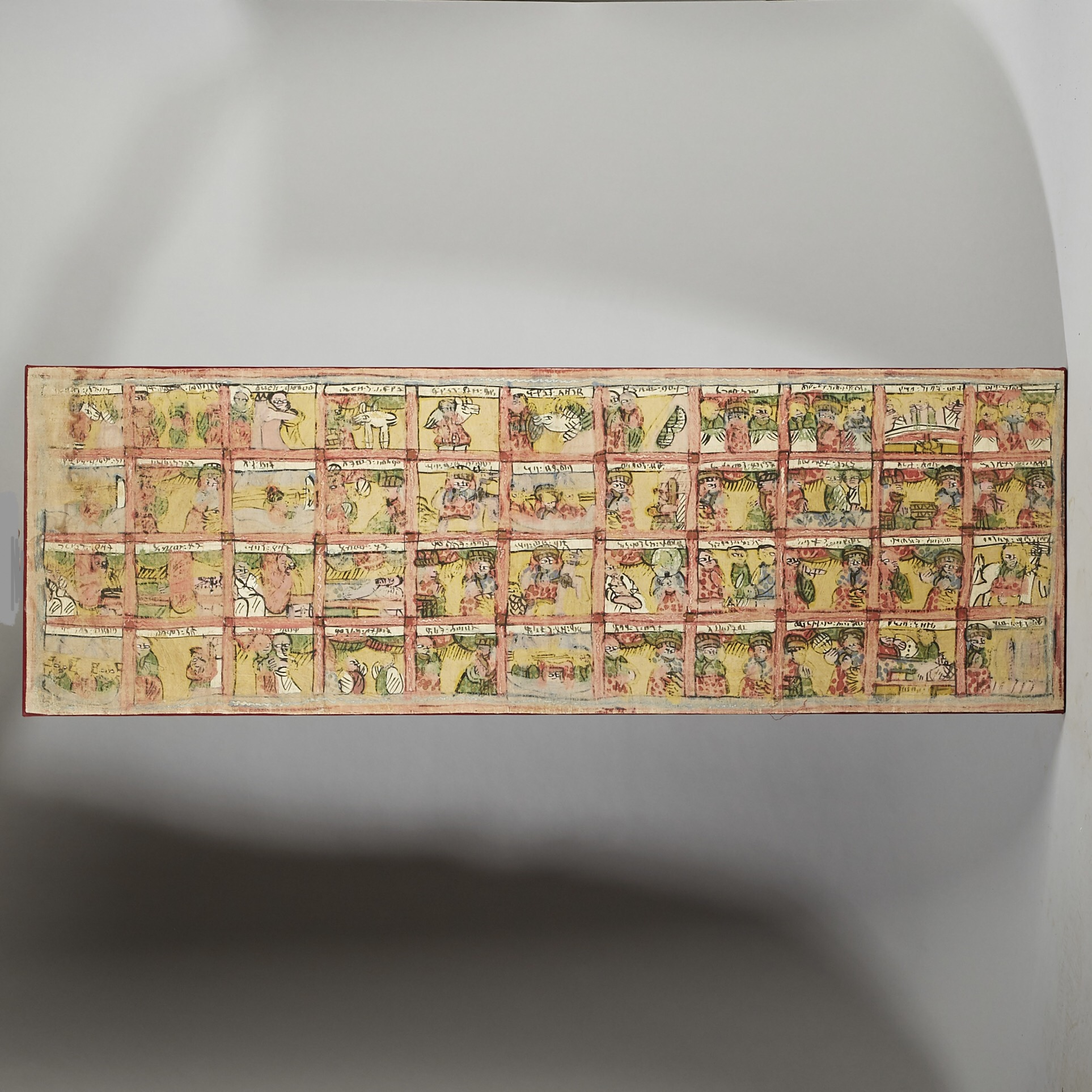SD AN ETHIOPIAN PAINTING, DEPICTING  EPISODIC SCENES  (  No 3001 )
