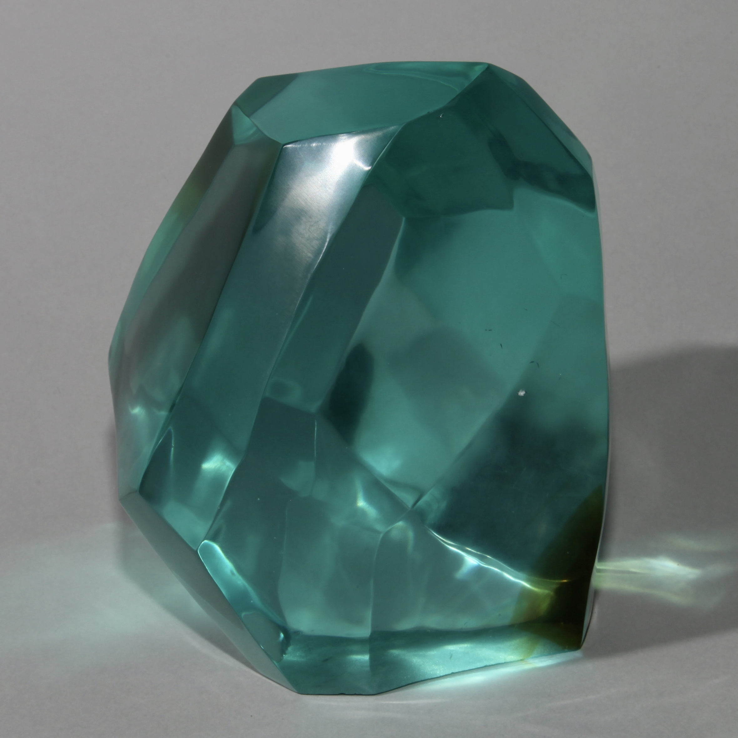 A MULTI COLOURED GLASS FORM ( No 1185)
