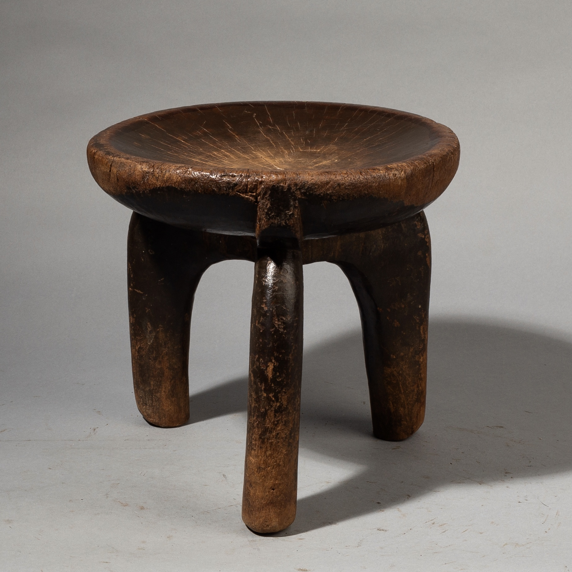 A WELL FORMED GO GO TRIBE STOOL FROM TANZANIA ( No 3513