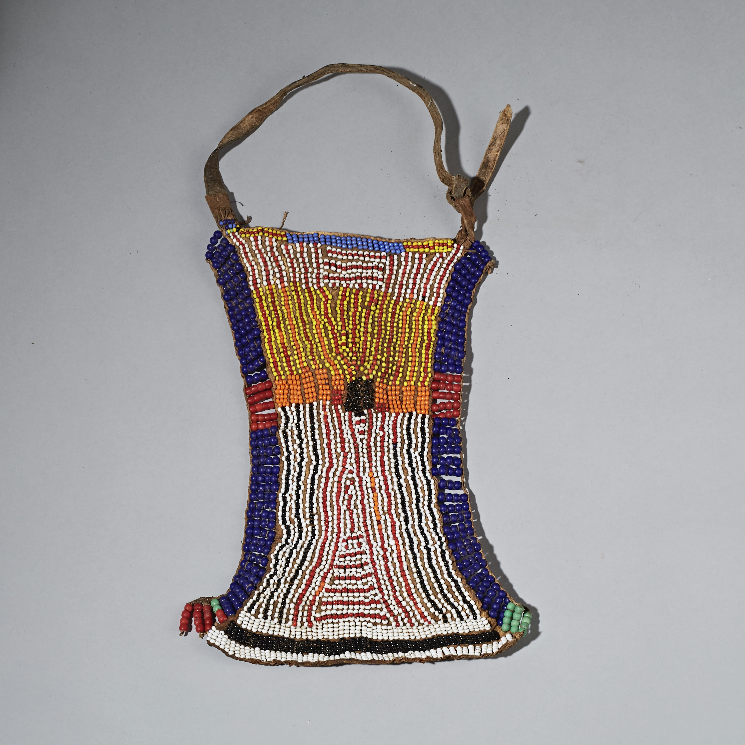 A SWEET BEADED APRON FROM TURKANA TRIBE OF KENYA ( No 2312 )