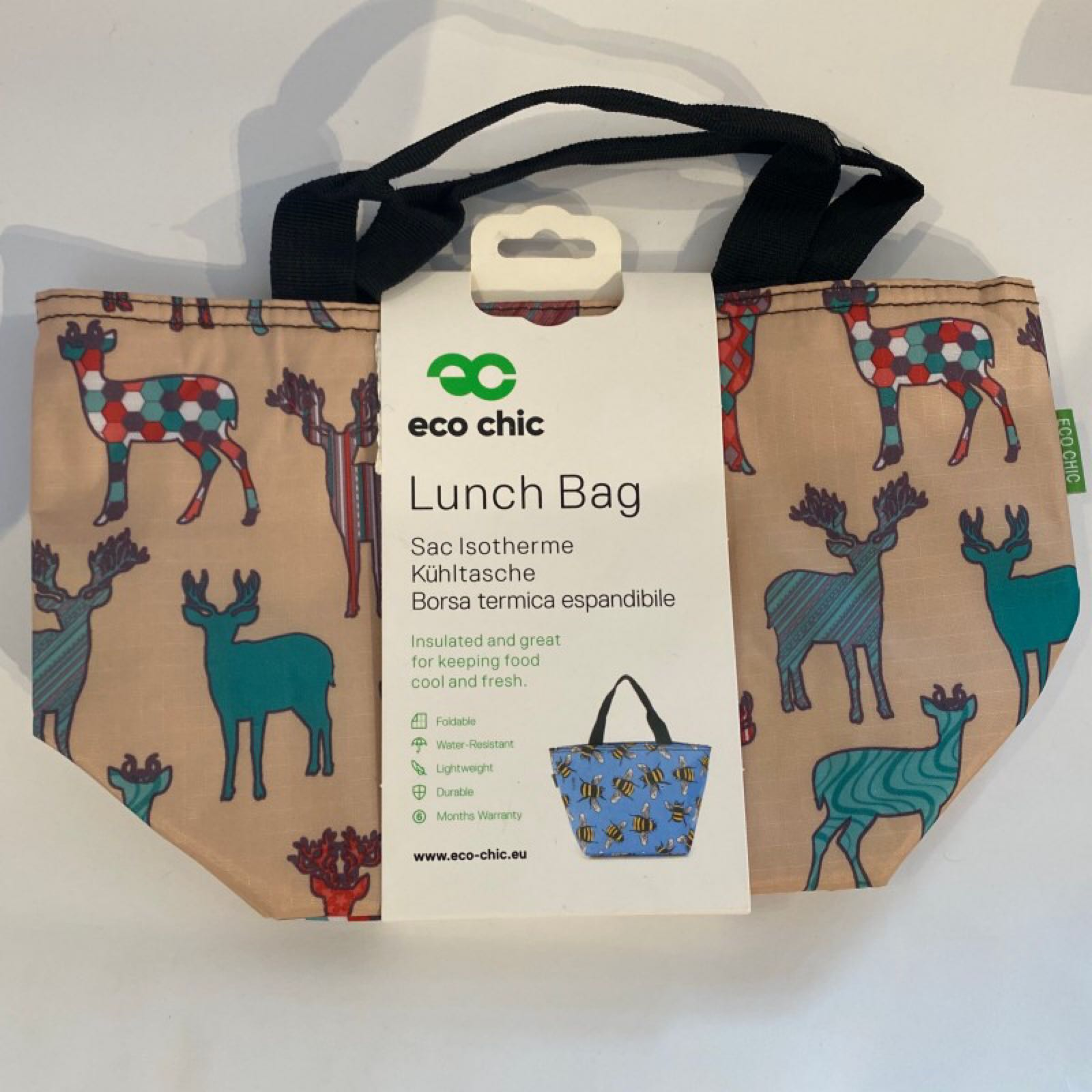 Beige Stags Lunch Bag