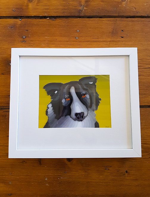 Dog 12 x 10 Framed Artwork