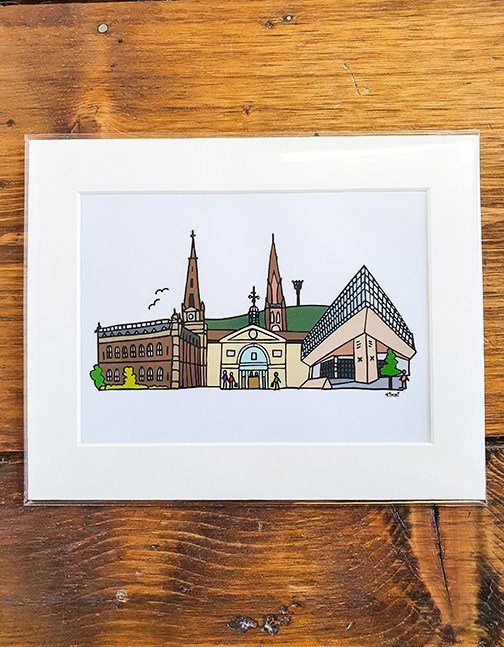Halifax Squiggle Mounted Print