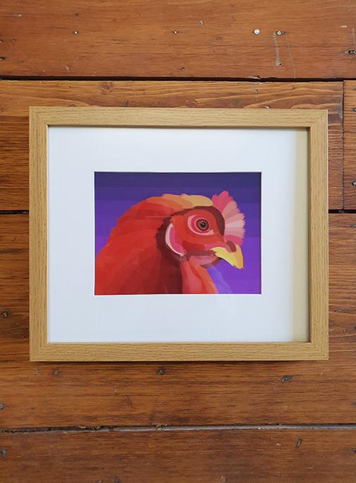 Hen Framed 12 x 10 Framed Artwork