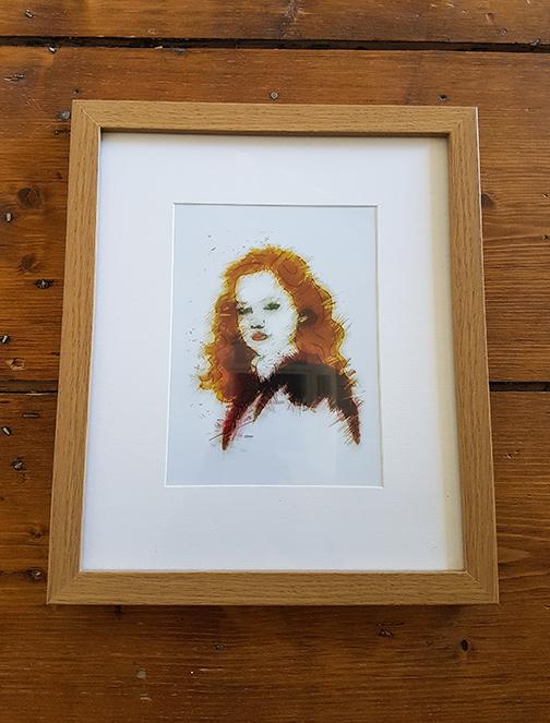 Hermione 12 x 10 Framed Artwork