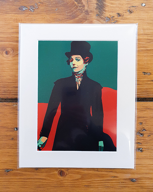 Anne  Lister (Gentleman Jack) Green Pop Art Print