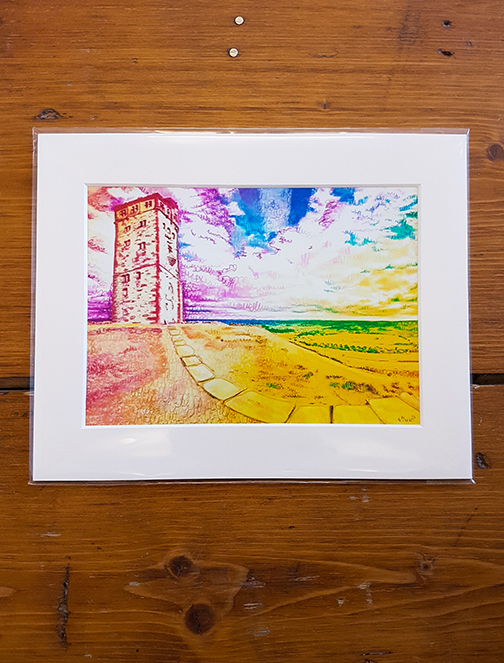 Castle Hill Rainbow Mounted Artwork Print
