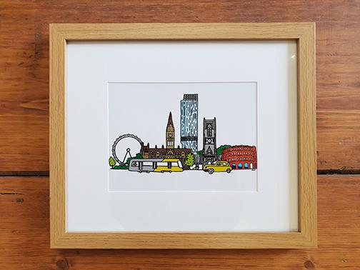 Manchester 12 x 10 Framed Artwork