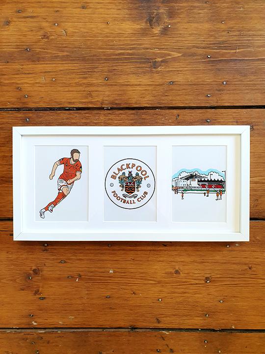 Blackpool FC Triple Framed Artwork