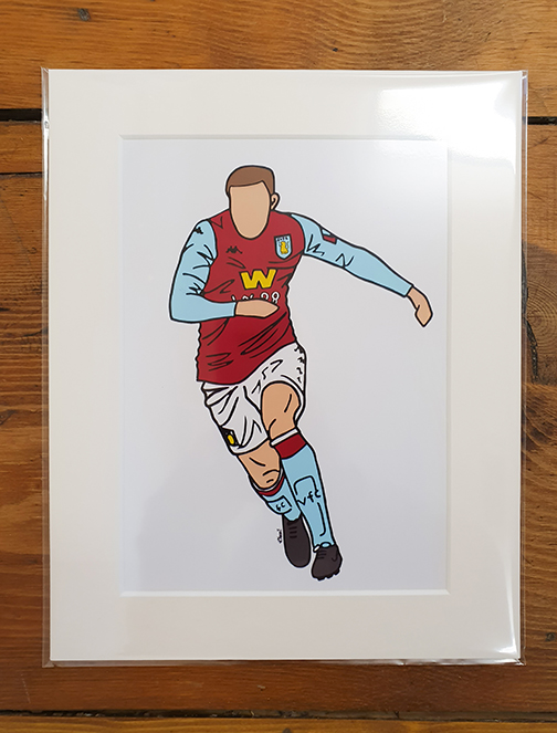 Aston Villa (AVFC) Kit Mounted Artwork Print