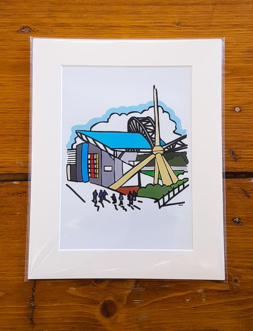 Huddersfield Town HTAFC John Smith's Stadium Mounted Artwork Print