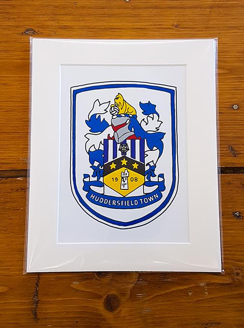 Huddersfield Town HTAFC Emblem Mounted Artwork Print