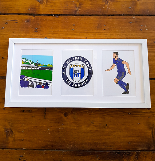 FC Halifax Town (FCHT) Triple Framed Artwork