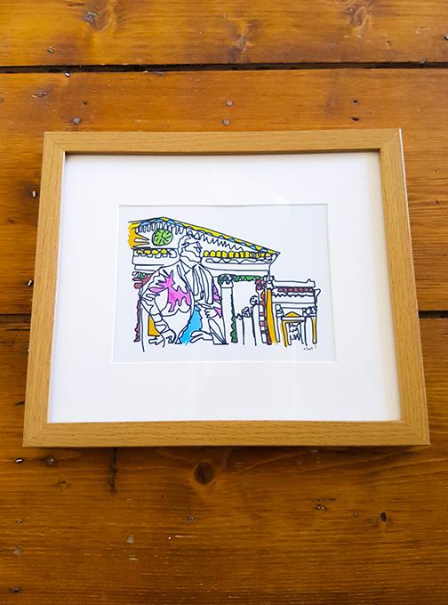 Harold Wilson Squiggle 12 x 10 Framed Artwork