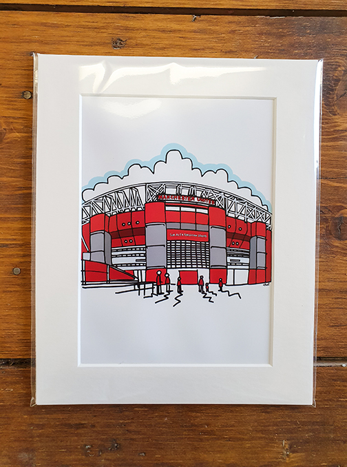 Manchester United (MUFC) Old Trafford Mounted Artwork Print