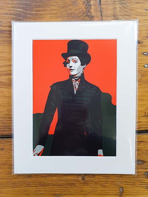 Anne Lister (Gentleman Jack) Orange Pop Art Print