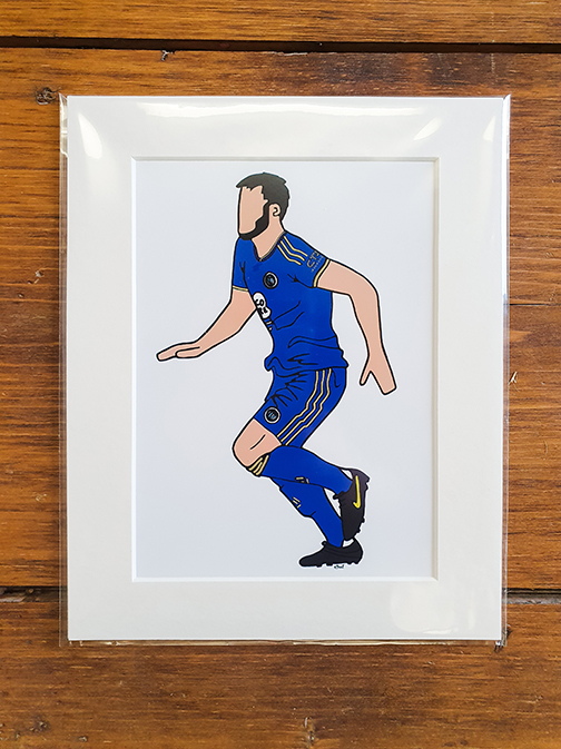 FC Halifax Town (FCHT) Kit Mounted Artwork Print