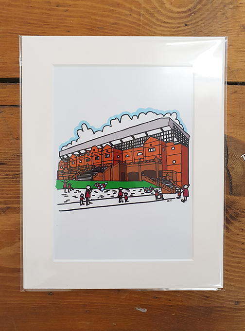 Aston Villa (AVFC) Stadium Mounted Artwork Print