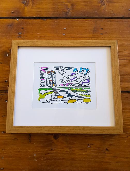 Castle Hill Squiggle 12 x 10 Framed Artwork